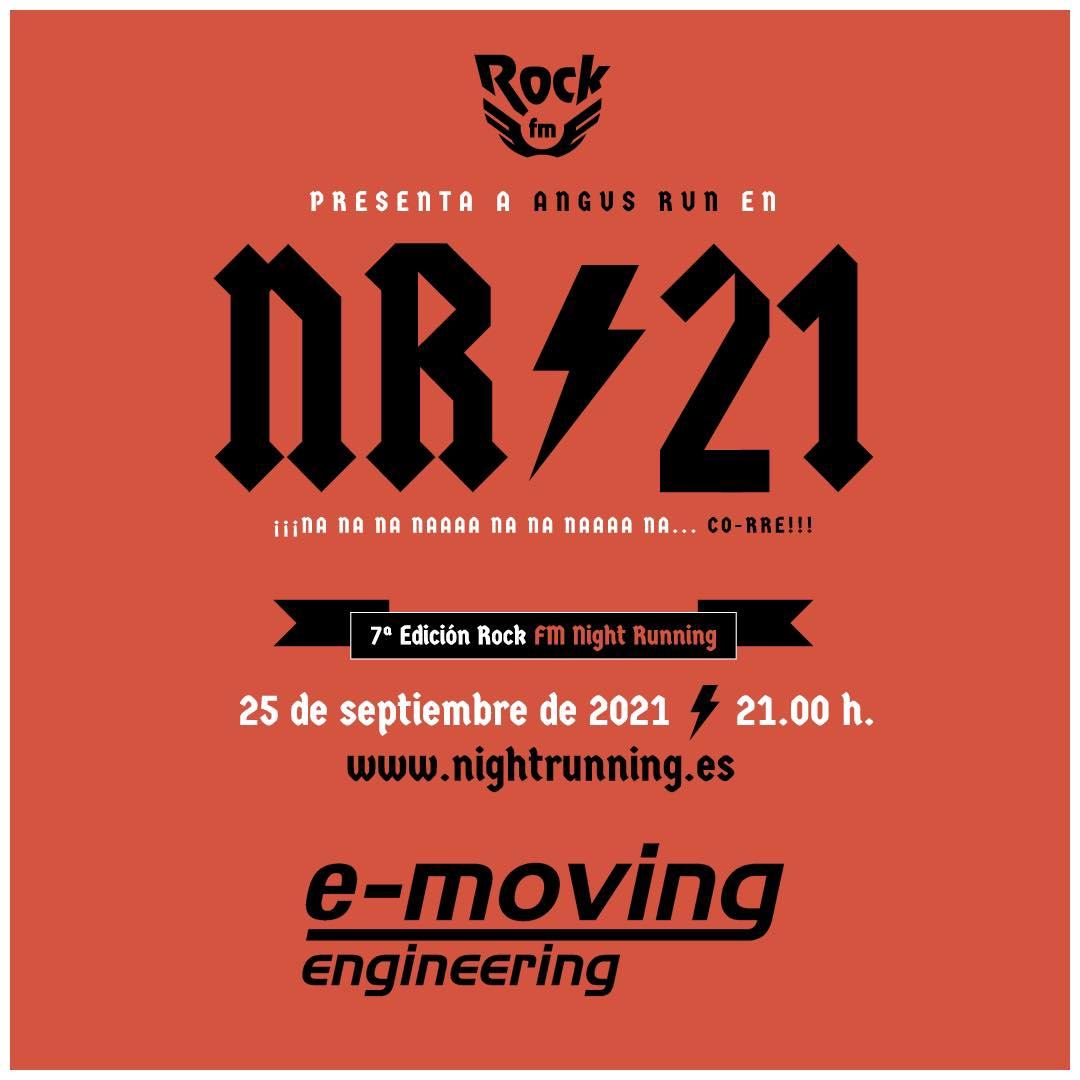 E-moving, patrocinador oficial de la  RockFM Night Running de Córdoba