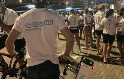 E-moving acompaña a miles de corredores al ritmo de la Night Running